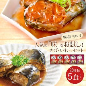 レトルト食品 和風 魚 惣菜 おかず 煮魚 宝幸 さば さんま 2種5食 ポッキリ セット メール便 e-monhiroba 02