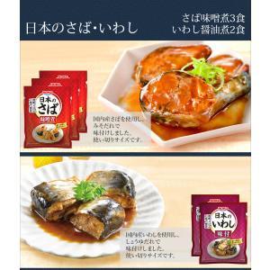 レトルト食品 和風 魚 惣菜 おかず 煮魚 宝幸 さば さんま 2種5食 ポッキリ セット メール便 e-monhiroba 03