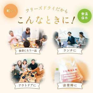 アマノフーズ フリーズドライ 炙り カニ 雑炊 6食 インスタント 即席 フリーズドライ食品 備蓄 非常食 勤労感謝 ギフト|e-monhiroba|05