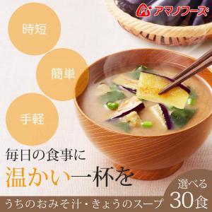 アマノフーズ フリーズドライ 味噌汁 うちのおみそ汁 スープ 選べる 30食 セット インスタント食品 キャッシュレス 還元 お歳暮 ギフト|e-monhiroba|02