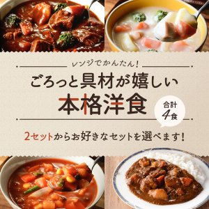 レトルト スープ シチュー 4種 詰め合わせ セット サンフーズ レトルト食品 メール便 ポイント消化 送料無 備蓄 非常食 e-monhiroba 02
