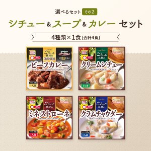 レトルト スープ シチュー 4種 詰め合わせ セット サンフーズ レトルト食品 メール便 ポイント消化 送料無 備蓄 非常食 e-monhiroba 09