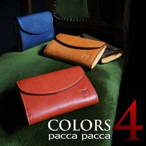 本革 牛革 素上げ馬革 メンズ 三つ折り財布|シンプル|pacca pacca