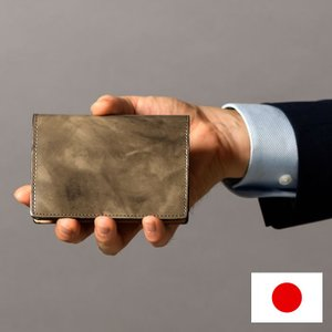 名刺入れ カードケース 名刺ケース ポケット 30枚分 シンプル 革小物 メンズ 男性 紳士 日本製 本革 牛革 馬革 ネブラ paccapacca|e-mono-online