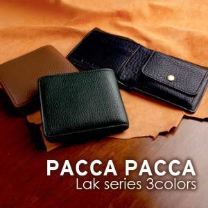 本革 牛革 馬革 スエード メンズ 二つ折り財布|ラック|pacca pacca
