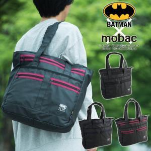 トートバッグ バットマン メンズ A4 大容量 軽量 アメコミ ワーナー BATMAN クッションポケット mobac|e-mono-online