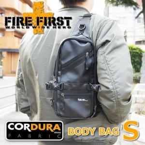 ボディバッグ ワンショルダー ブラック 黒 コーデュラ|メンズ Sサイズ|FIRE FIRST【エントリーでポイント10倍】|e-mono-online