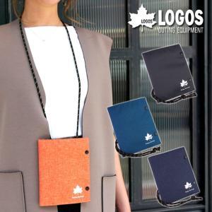 マルチケース メンズ パスポートケース ストラップ 軽い 軽量 ポリエステル カジュアル おでかけ LOGOS|e-mono-online