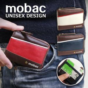 小銭入れ メンズ パスケース 定期入れ コインケース L字ファスナー ジッパー ツートンカラー バイカラー mobac|e-mono-online