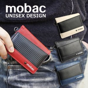 パスケース メンズ 二つ折り 定期入れ カードケース メッシュエンボス ツートンカラー バイカラー mobac|e-mono-online
