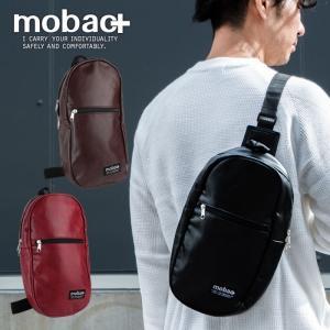 ボディバッグ ワンショルダー メンズ 軽量 軽い ファッション カジュアル シンプル 合成皮革 mobac+|e-mono-online