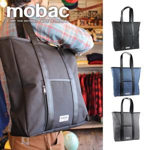 トートバッグ バッグ メンズ レディース 大容量 ファスナー ポケット タブレット カジュアル トラベル 旅行 1泊 mobac+ e-mono-online