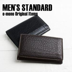 名刺入れ メンズ カードケース ベーシック バッファロー柄 シンプル 男性 ビジネス|e-mono-online