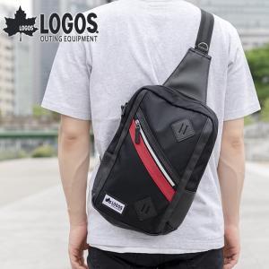 ボディバッグ ショルダーバッグ ワンショルダー メンズ 男性 カジュアル 軽量 斜めがけ ファスナー ポケット LOGOS 旅行 普段用 お出掛け 送料無料|e-mono-online