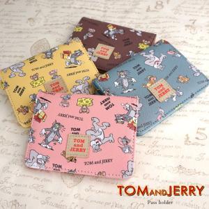 トムとジェリー パスケース 定期入れ レディース 二つ折り 三面 キャラクター カードケース ワーナー・ブラザース クリアポケット かわいい キュート e-mono-online