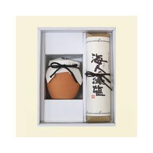 ギフト 海人の藻塩 セット (土器入り250g&巻紙包み500g)|e-mono-store