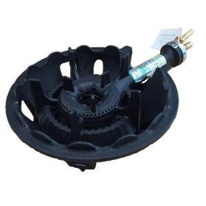 業務用鋳物コンロ 一重小(並型)・種火無し ガスバーナー(普及タイプ) 底枠付 SB510B|e-mono-ya