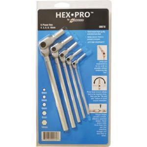 ボンダス HEX PRO ピボットヘッド六角レンチセット 4、5、6、8、10mm|e-mono21