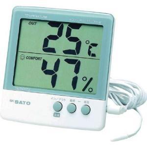 佐藤計量器 最高最低温湿度計(外部センサータイプ) e-mono21