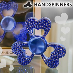 HANDSPINNERS DiamondSpinner(ダイヤモンドスピナー) ハンドスピナー ハートモデル ブルー