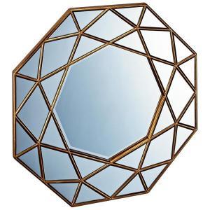ユーパワー ダイヤモンド アート ミラー アンティークゴールド DM-25001