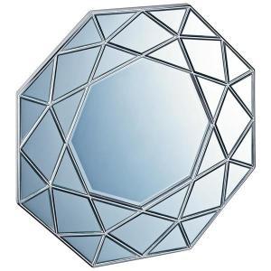 ユーパワー ダイヤモンド アート ミラー アンティークシルバー DM-25002