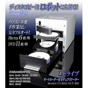 Blu-rayディスクコピーはロボットにお任せ!オートローダー付きブルーレイ対応デュプリケーター【CUB25-S1T-BD】