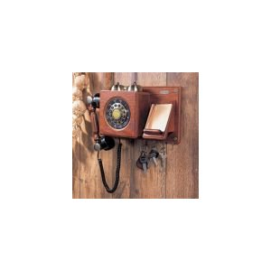 高級アンティーク電話 Wood Wall Telephone 【HT-06B】|e-monz