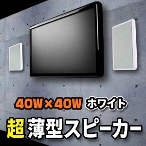 壁に掛けられるからお部屋広々!壁掛フラットスピーカー超薄型【Wall Speaker】ホワイト|e-monz