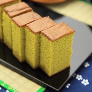 抹茶かすてら(ザラメ糖入)0.5号(藤田チェリー豆)