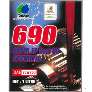 Omega/オメガ ギアオイル 690 レッドラベル SPEC-3 75W-250 1L|e-naniwaya