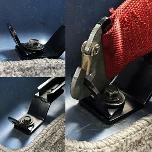NANIWAYA/ナニワヤ シートベルトアダプター シートベルトフック 2個(2pcs) 4点式ベルトの取り付けに!|e-naniwaya