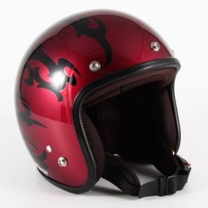72JAM(ジャムテックジャパン) ジェットヘルメット72JAM JET TRIBAL(レッド) [JCP-22]|e-net