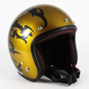 72JAM(ジャムテックジャパン) ジェットヘルメット72JAM JET TRIBAL(ゴールド) [JCP-23]|e-net