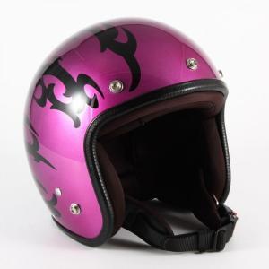 72JAM(ジャムテックジャパン) ジェットヘルメット72JAM JET TRIBAL(パープル) [JCP-24]|e-net