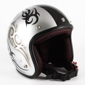 72JAM(ジャムテックジャパン) ジェットヘルメット72JAM JET TRIBAL(シルバー/ブラックライン) [JCP-25]|e-net