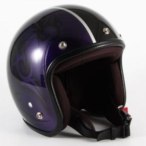 72JAM(ジャムテックジャパン) ジェットヘルメット72JAM JET TRIBAL(パープル/ブラックライン) [JCP-27]|e-net