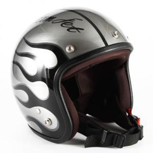 72JAM(ジャムテックジャパン) ジェットヘルメット72JAM JET IRON FLAME (シルバー) [JCP-28]|e-net