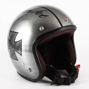 72JAM(ジャムテックジャパン) ジェットヘルメット72JAM JET IRON CROSS(シルバー) [JCP-29]|e-net