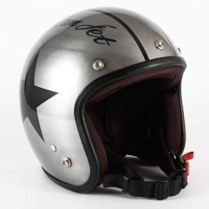 72JAM(ジャムテックジャパン) ジェットヘルメット72JAM JET IRON STAR(シルバー) [JCP-30]|e-net
