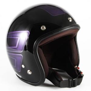 72JAM(ジャムテックジャパン) ジェットヘルメット72JAM JET SCALLOP(パープル) [JCP-33]|e-net