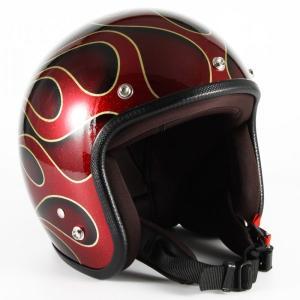 72JAM(ジャムテックジャパン) ジェットヘルメット72JAM JET FLAMES(レッド) [JCP-41]|e-net