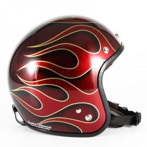 72JAM(ジャムテックジャパン) ジェットヘルメット72JAM JET FLAMES(レッド) [JCP-41]|e-net|02