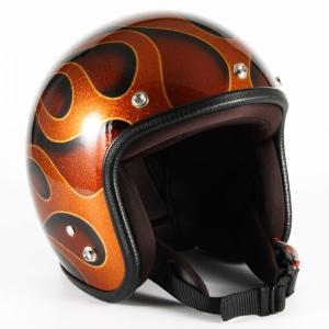 72JAM(ジャムテックジャパン) ジェットヘルメット72JAM JET FLAMES(オレンジ) [JCP-43]|e-net