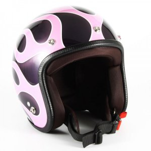 72JAM(ジャムテックジャパン) ジェットヘルメット72JAM JET FLAMES レディース(ピンク) [JCP-44]|e-net