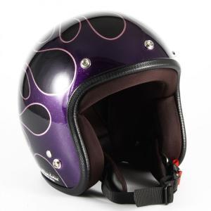 72JAM(ジャムテックジャパン) ジェットヘルメット72JAM JET FLAMES レディース(パープル) [JCP-47]|e-net