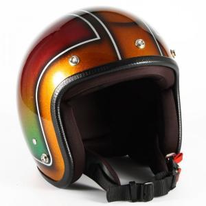 72JAM(ジャムテックジャパン) ジェットヘルメット72JAM JET Metal Snake(ブラウン) [JCP-49]|e-net