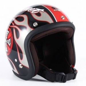 72JAM(ジャムテックジャパン) ジェットヘルメット72JAM JET ROCK&ROLL(ブラックグロス) [JJ-06G]|e-net