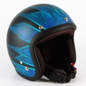 72JAM(ジャムテックジャパン) ジェットヘルメット72JAM JET STING(マットブルー) [JJ-17M]|e-net