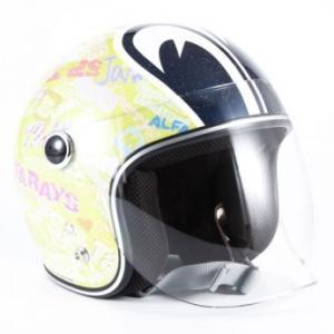 72JAM(ジャムテックジャパン) ジェットヘルメットSP TADAO(SP忠男) キッズ(イエロー) [SPK-01]|e-net